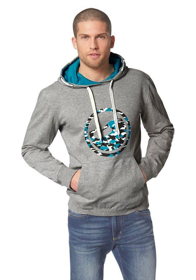 Ocean Sportswear Kapuzensweatshirt in Grau-Meliert