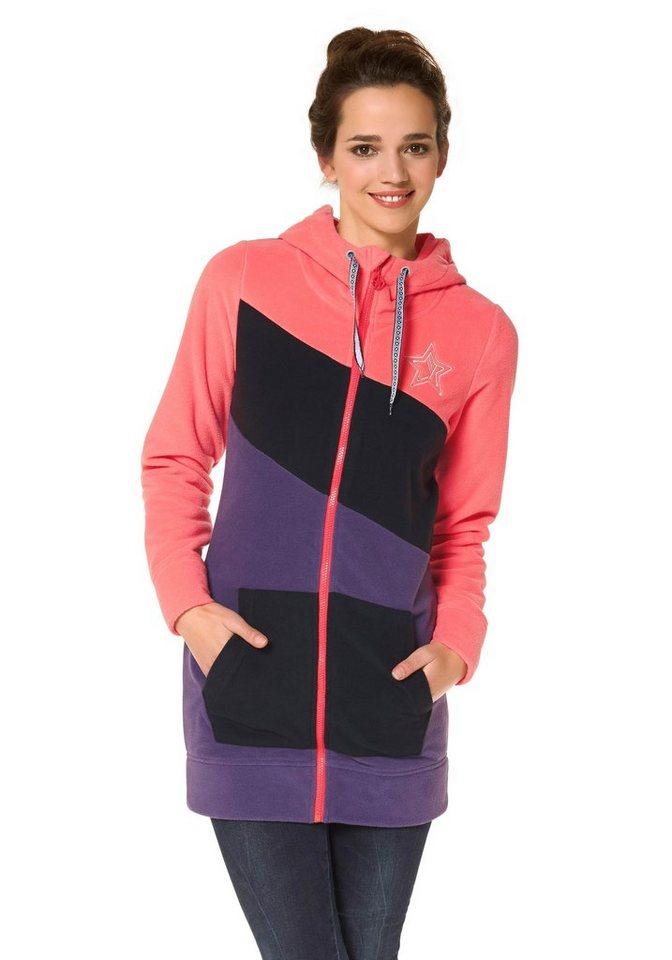Ocean Sportswear Fleecejacke in Lila-Koralle