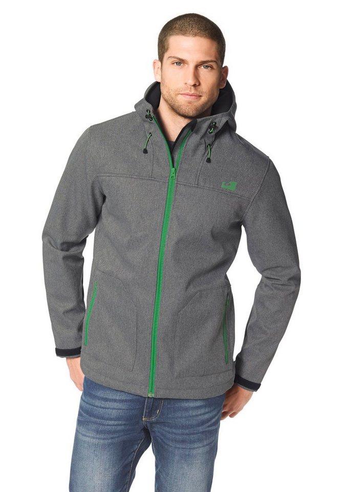 Ocean Sportswear Softshelljacke in Grau-Meliert