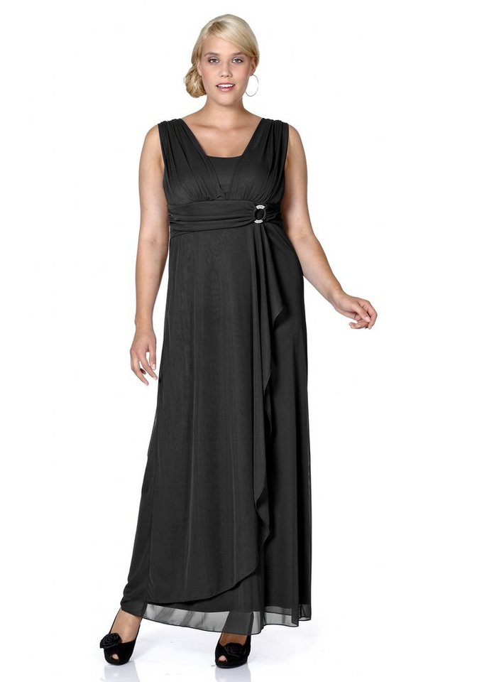 sheego Style Abendkleid in schwarz