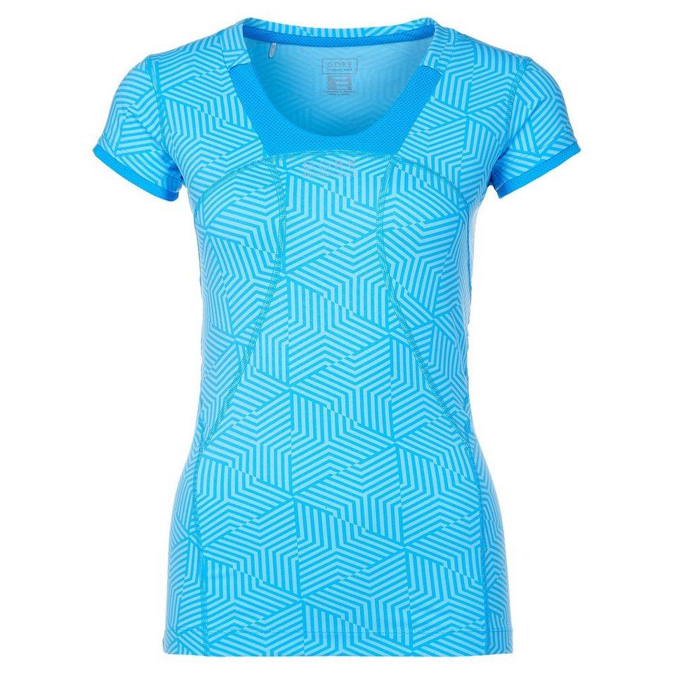 GORE Air Lady Print Laufshirt Damen in hellblau / blau