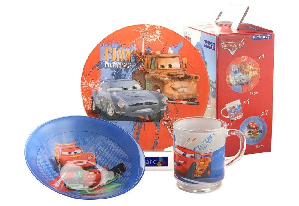 Kinderservice, »Cars«, Luminarc (3tlg.) in bunt