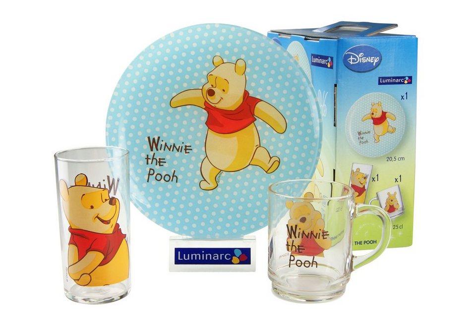 Kinderservice, »Winnie Puh«, Luminarc (3tlg.) in bunt