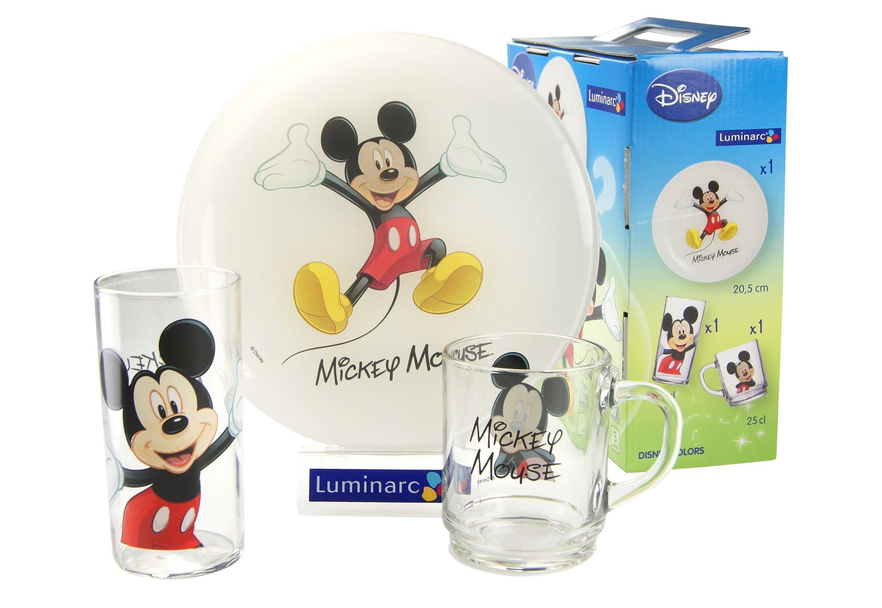 Kinderservice, »Mickey«, Luminarc (3tlg.)