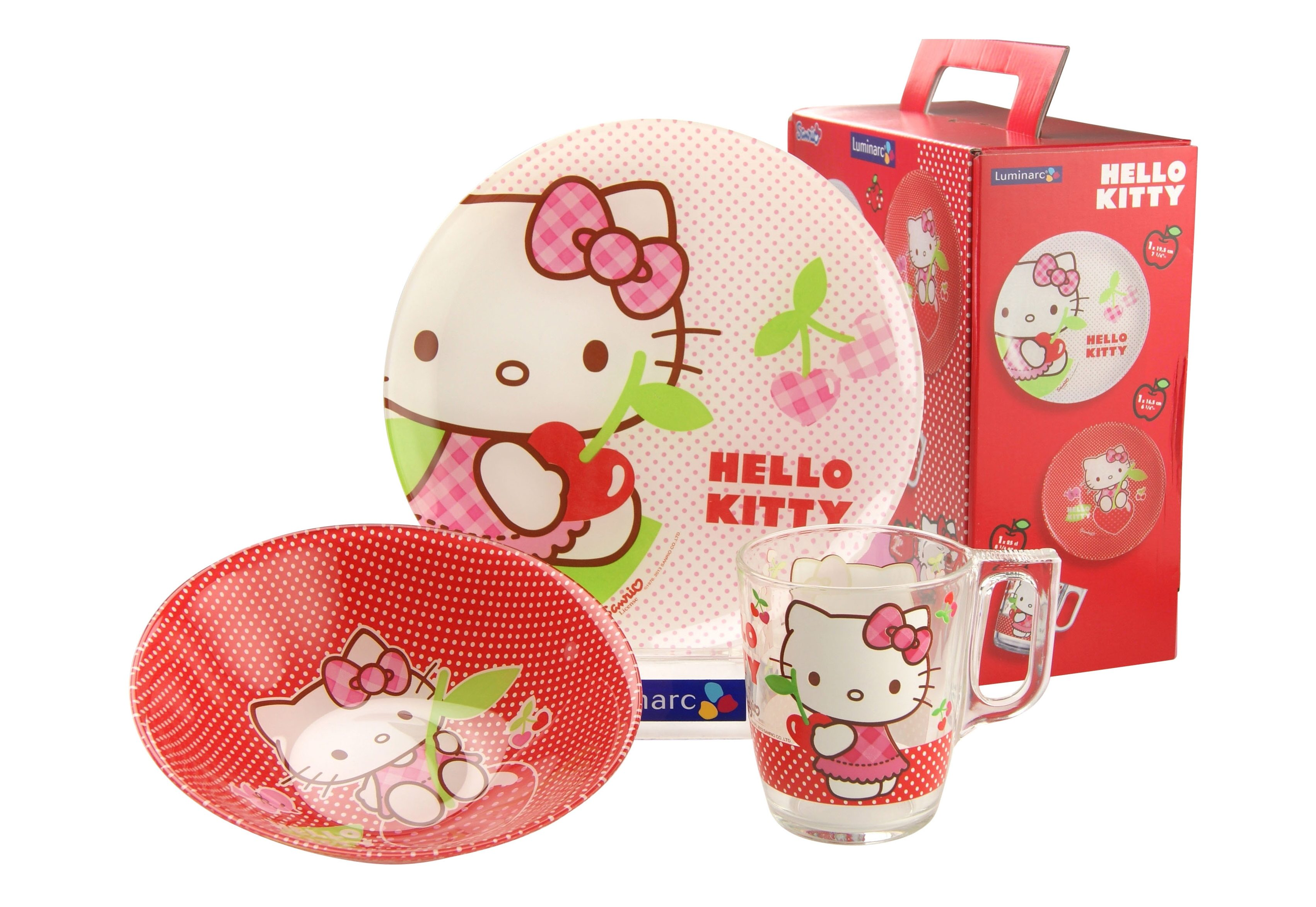 Kinderservice, »Hello Kitty«, Luminarc (3tlg.)