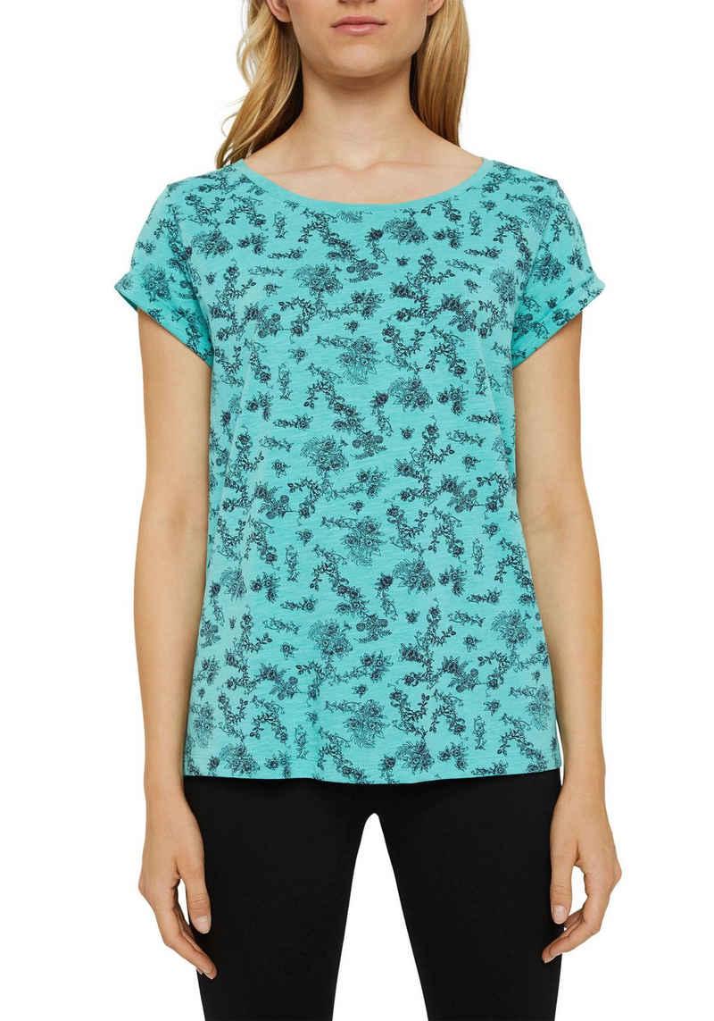 edc by Esprit T-Shirt im wunderschönen Blüten-Alloverprint