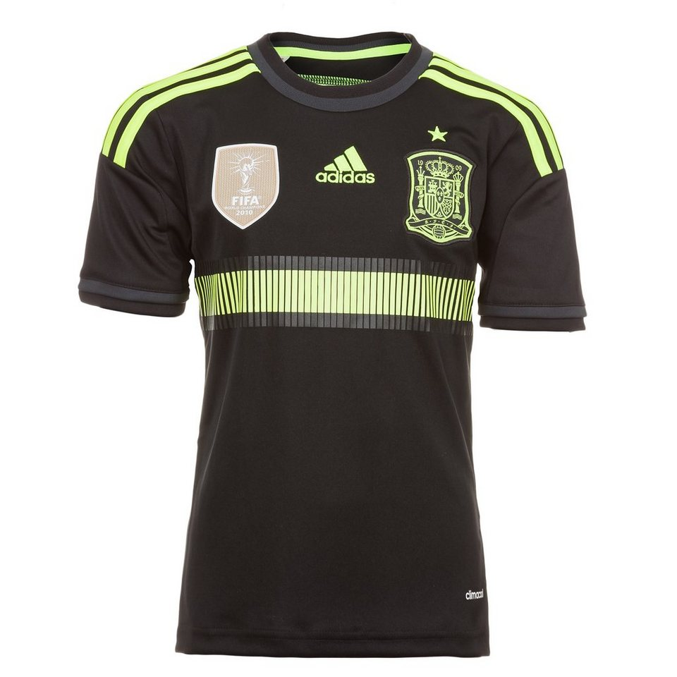 adidas Performance Spanien Trikot Away WM 2014 Kinder in schwarz / gelb
