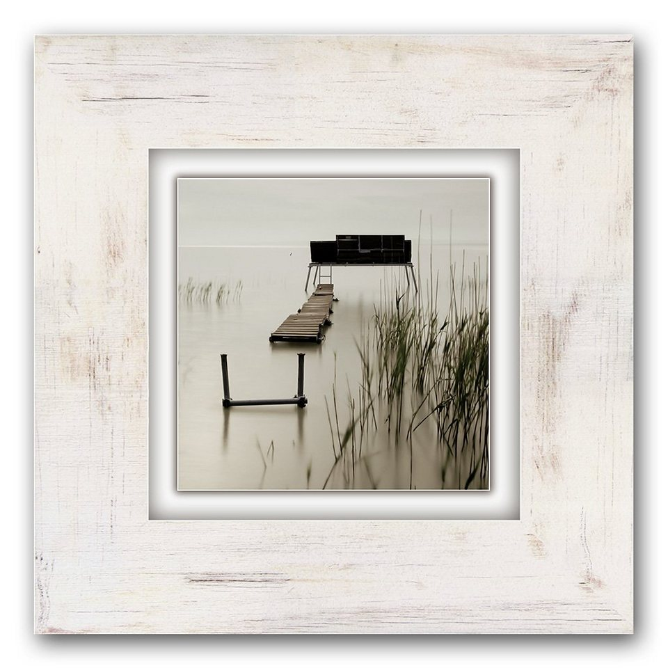 Holzbild, Home affaire, »Moor«, 40/40 cm in creme