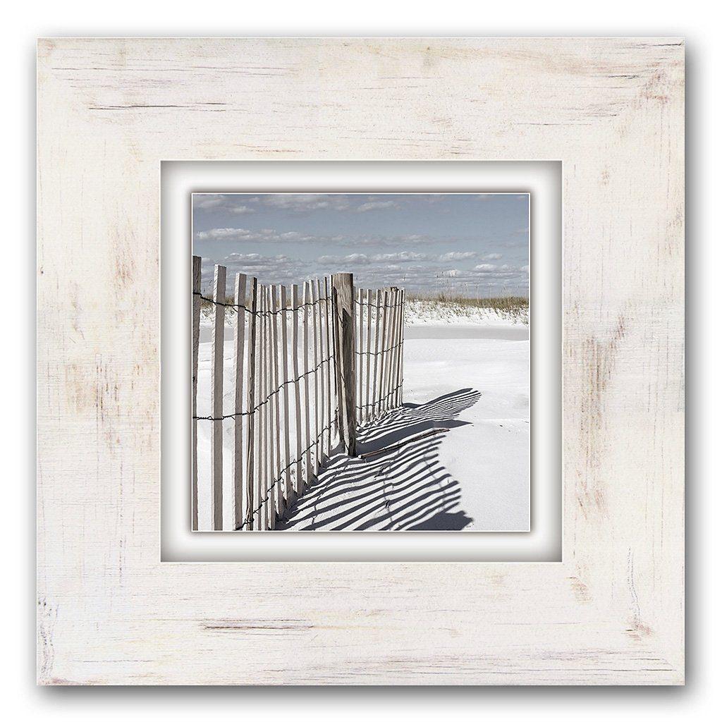 Holzbild, Home affaire, »Zaun am Strand«, 40/40 cm