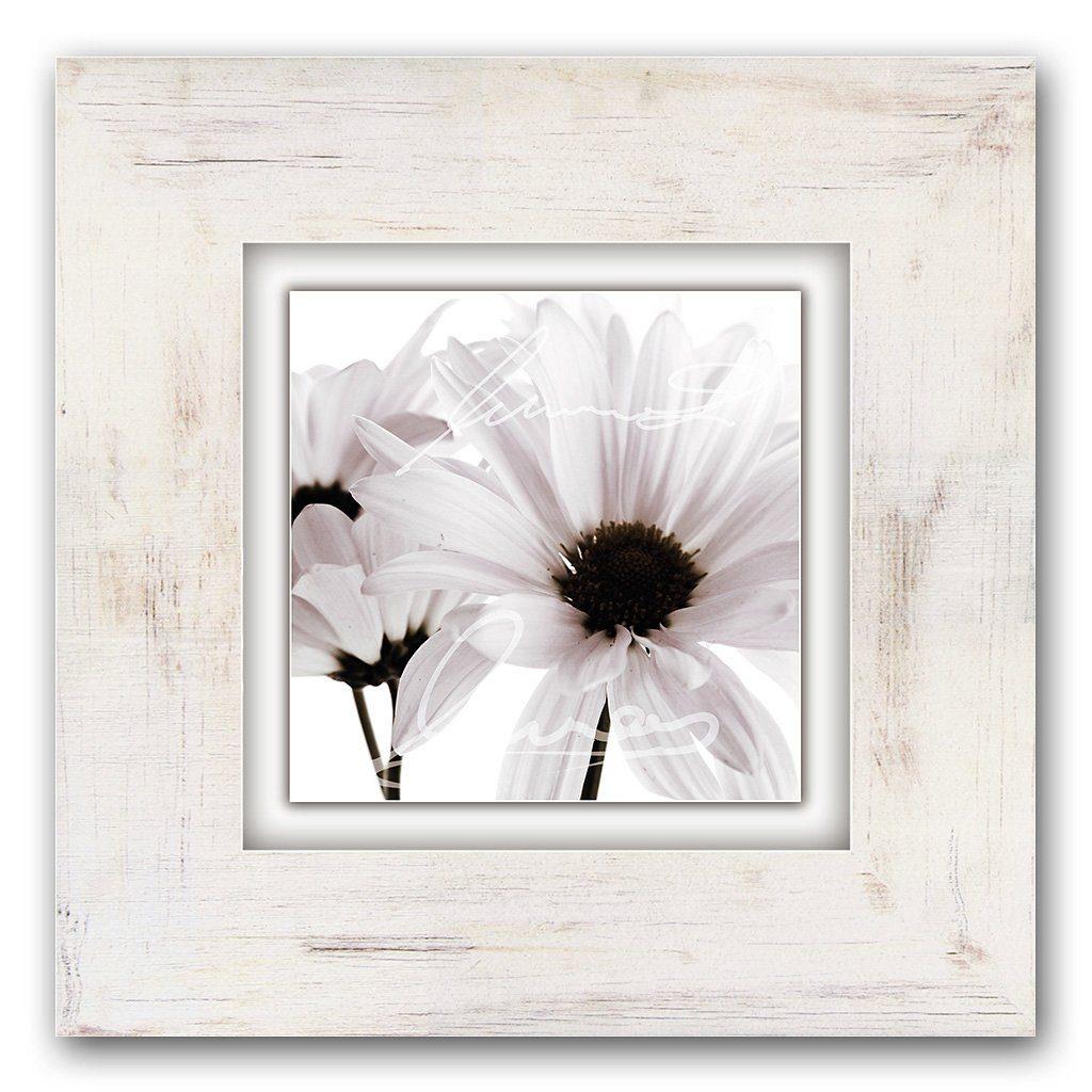 Home affaire Holzbild »Weiße Blüten«, 40/40 cm
