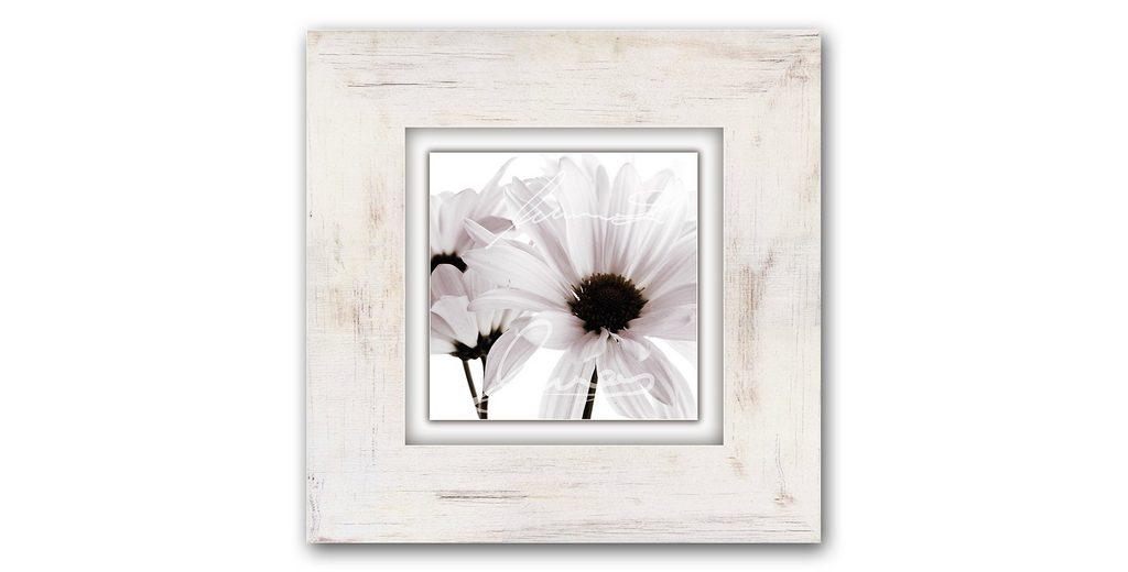 Holzbild, Home affaire, »Weiße Blüten«, 40/40 cm