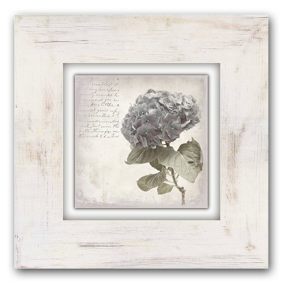 Holzbild, Home affaire, »Lila Blume«, 40/40 cm in creme
