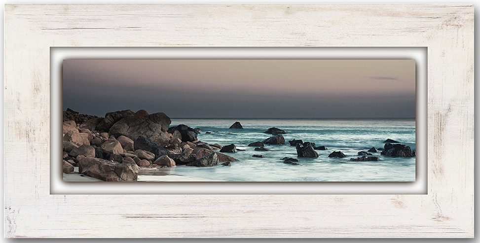 Holzbild, Home affaire, »Steinküste«, 80/40 cm