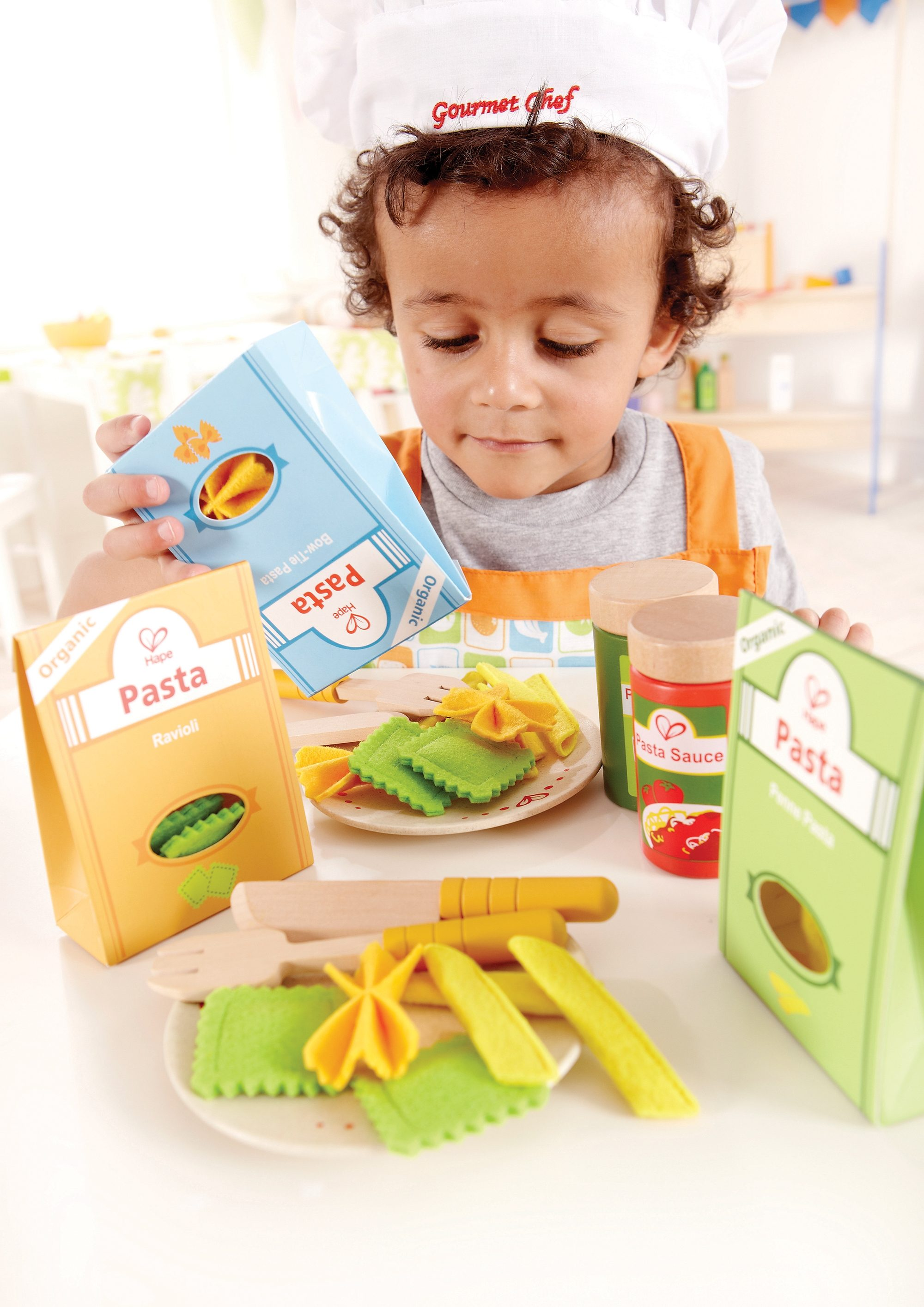 Hape Set: Lebensmittel aus Holz, »Pasta Set« (33-tlg.)
