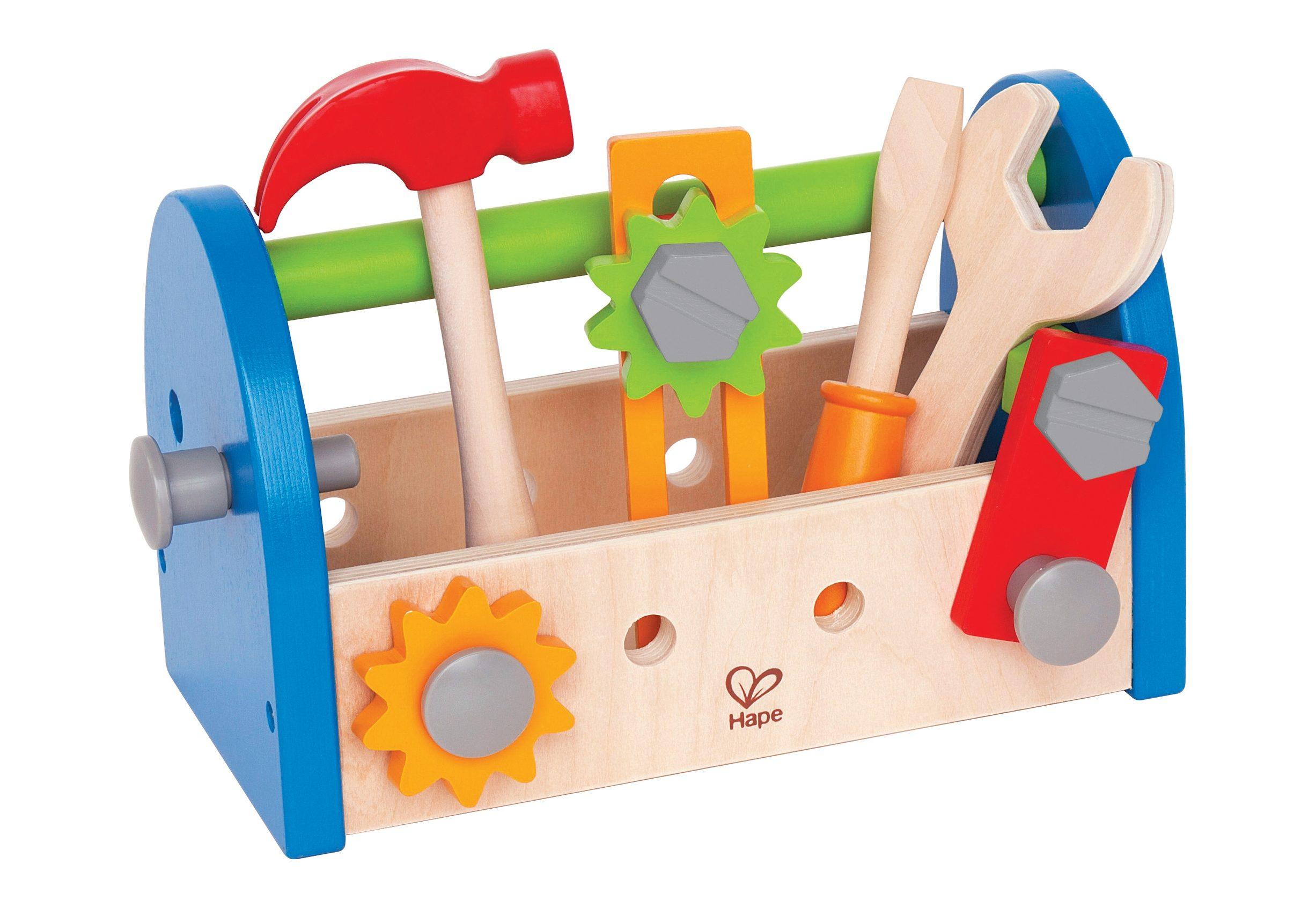 Hape Werkzeugkasten aus Holz (17-tlg.)