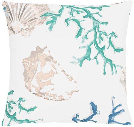 Kissenhülle, Apelt, »4056- Digitaldruck Koralle-Muschel« in blau