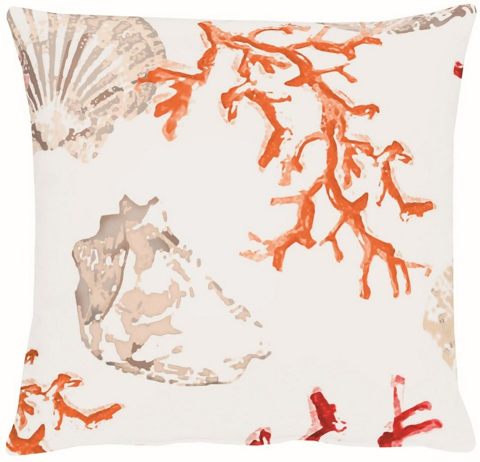 Kissenhülle, Apelt, »4056- Digitaldruck Koralle-Muschel« in rot