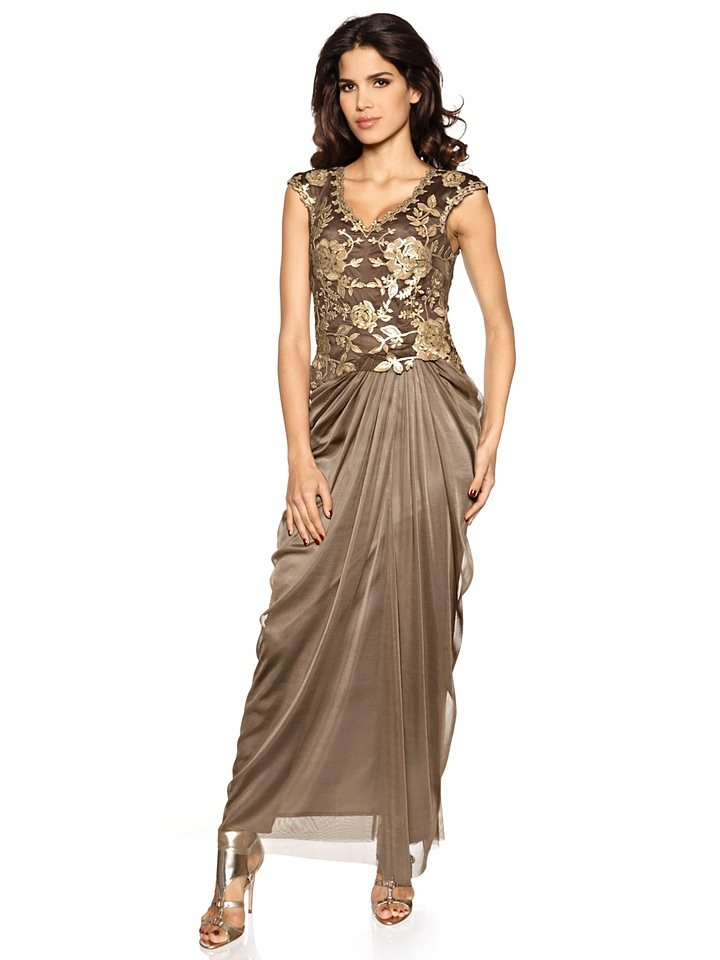 Abendkleid in taupe