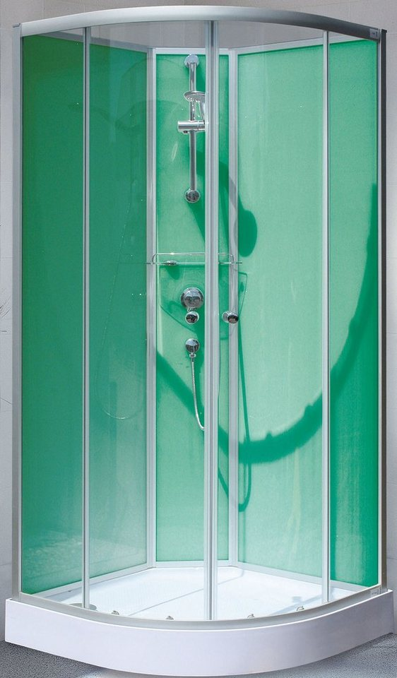 Komplettdusche »Kreta«, 89cm x 89cm in chromfarben