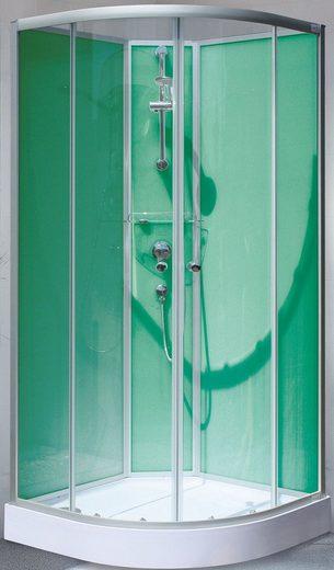 SCHULTE Set: Komplettdusche »Kreta«, Viertelkreisdusche, BxT: 89 x 89 cm