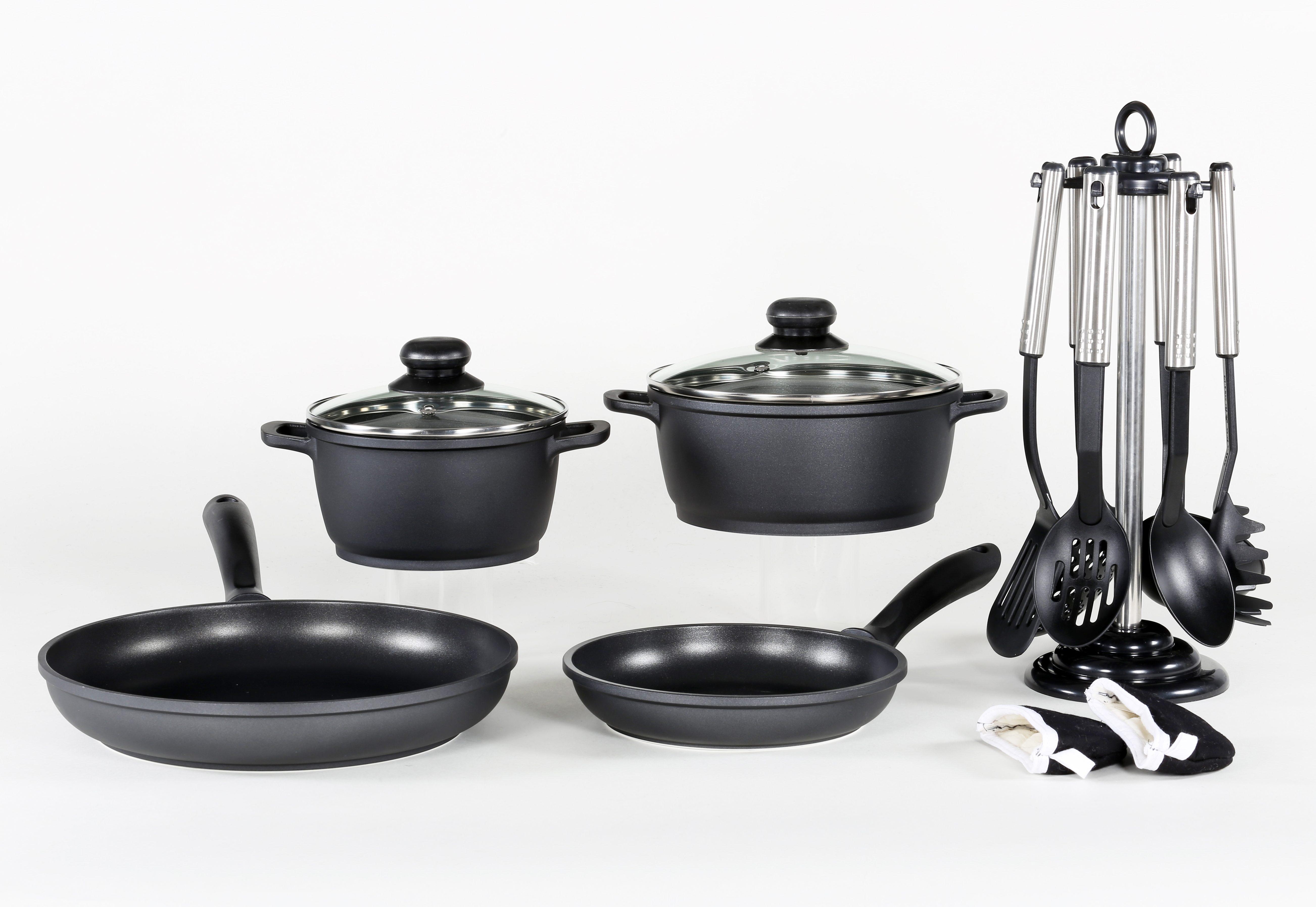 Aluguss-Kochserie 13-teilig, Krüger
