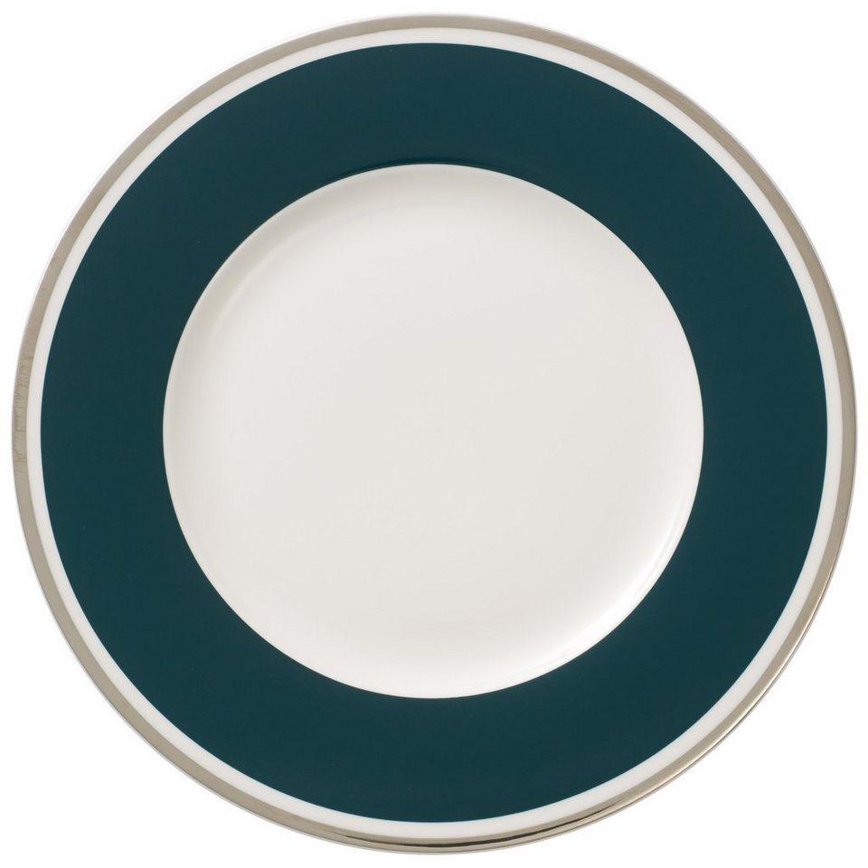 VILLEROY & BOCH Frühstücksteller »Anmut My Colour Emerald Green« in Dekoriert