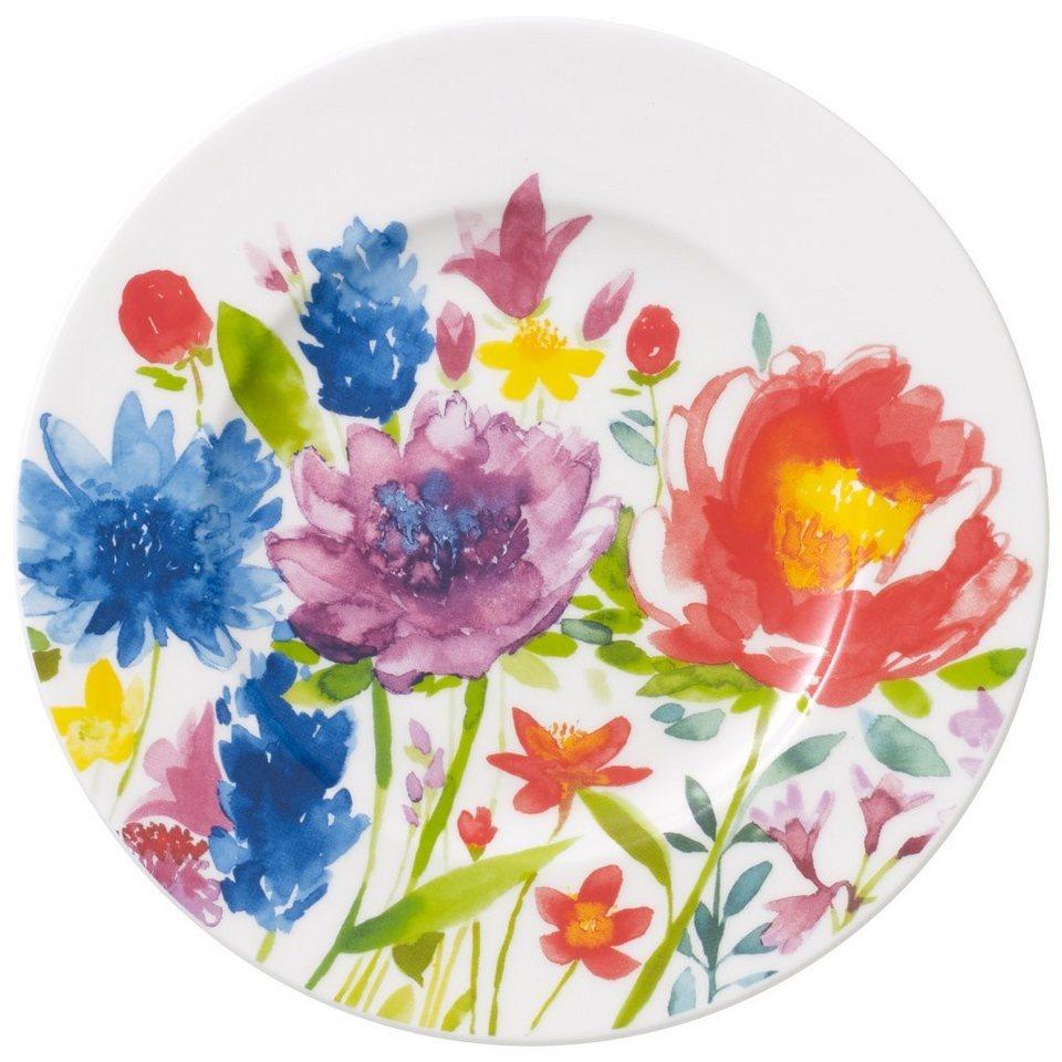 VILLEROY & BOCH Brotteller »Anmut Flowers« in Dekoriert