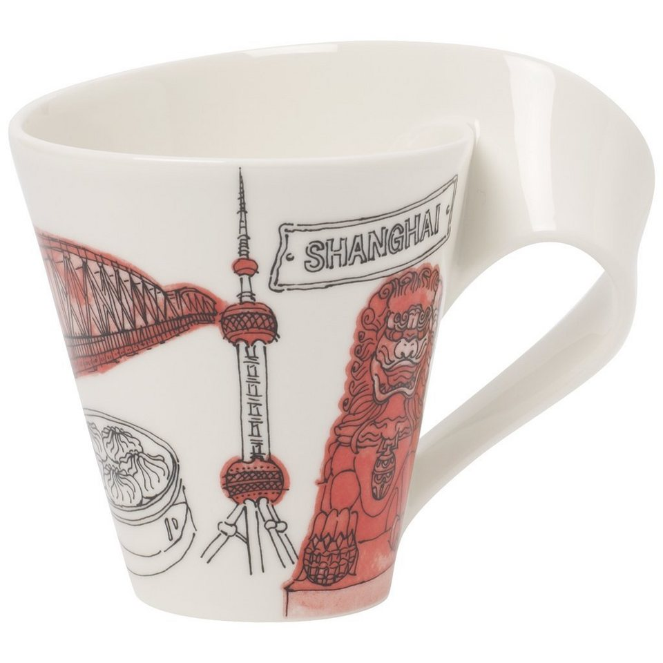VILLEROY & BOCH Becher mit Henkel Shanghai »Cities of the World« in Dekoriert