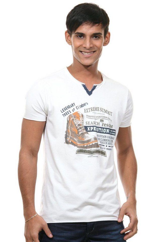 MCL Henley T-Shirt regular fit in natur