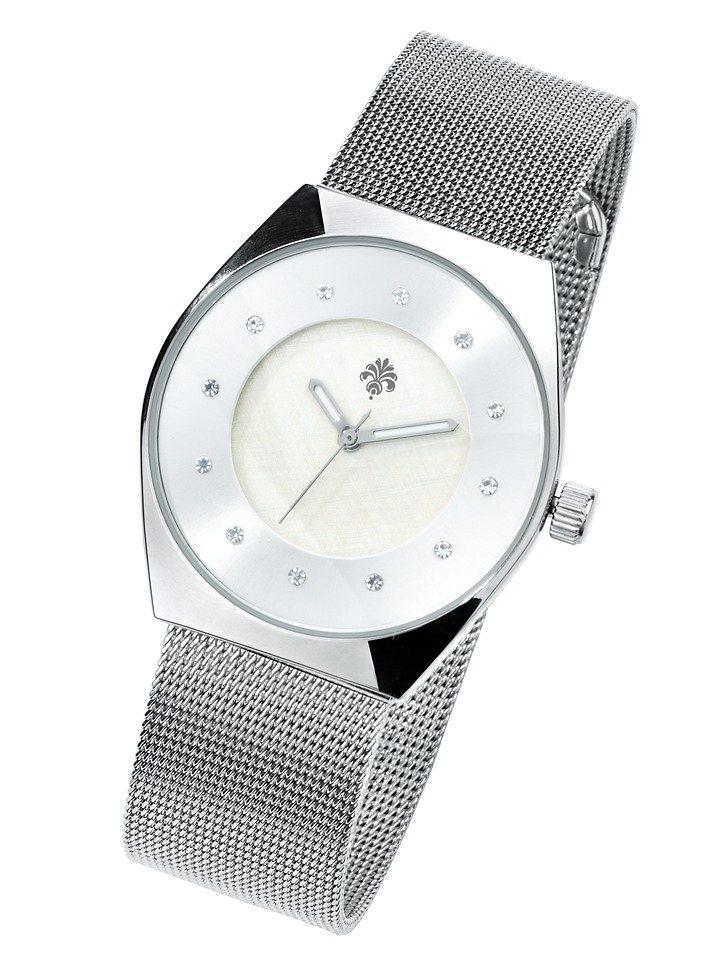 Armbanduhr in silberfarben
