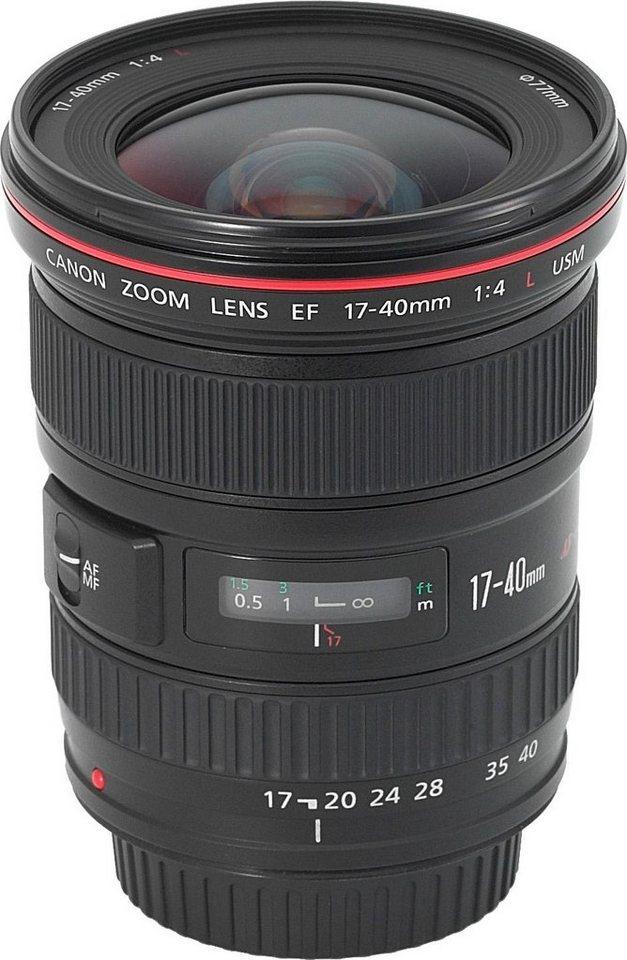 Canon EF 17-40mm f/4L USM Superweitwinkel Objektiv in schwarz