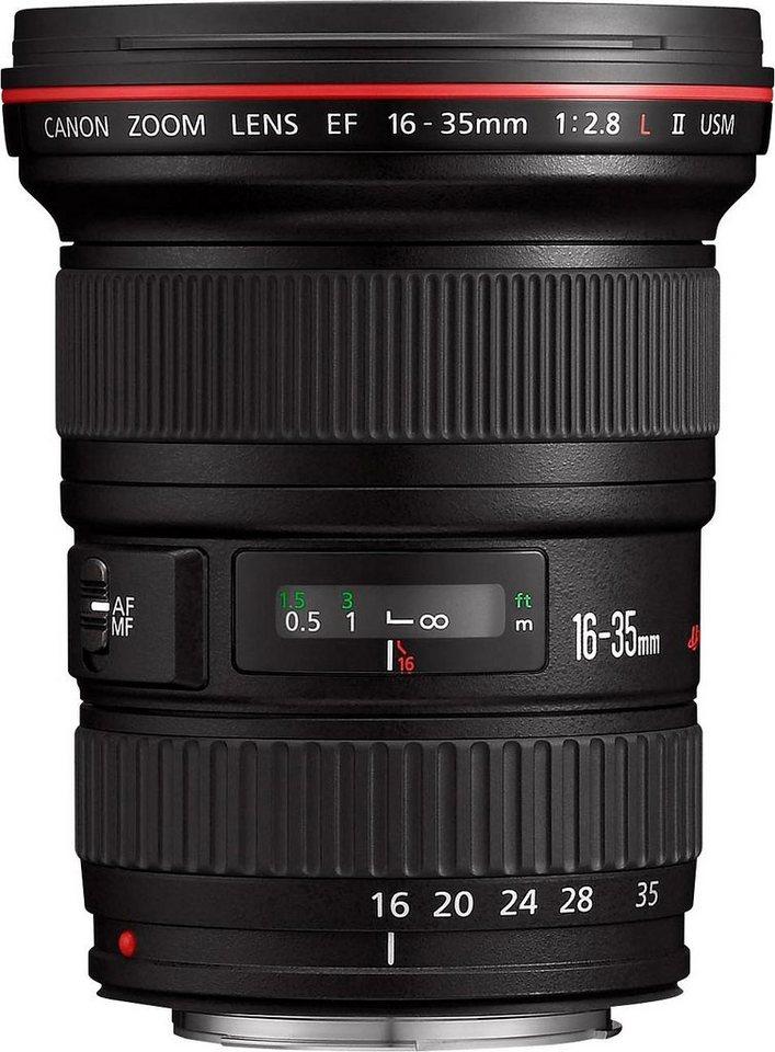 Canon EF 16-35mm f/2.8L II USM Superweitwinkel Objektiv in schwarz