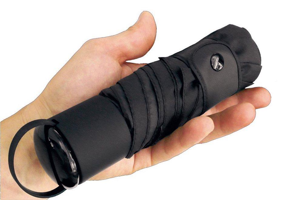 Euroschirm® Regenschirm für Damen und Herren, »Reise Regenschirm - Mini-Taschenschirm« in schwarz