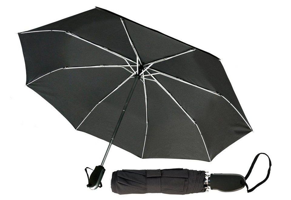 Euroschirm® Regenschirm für Damen und Herren, »Designer-Taschenschirm« in schwarz