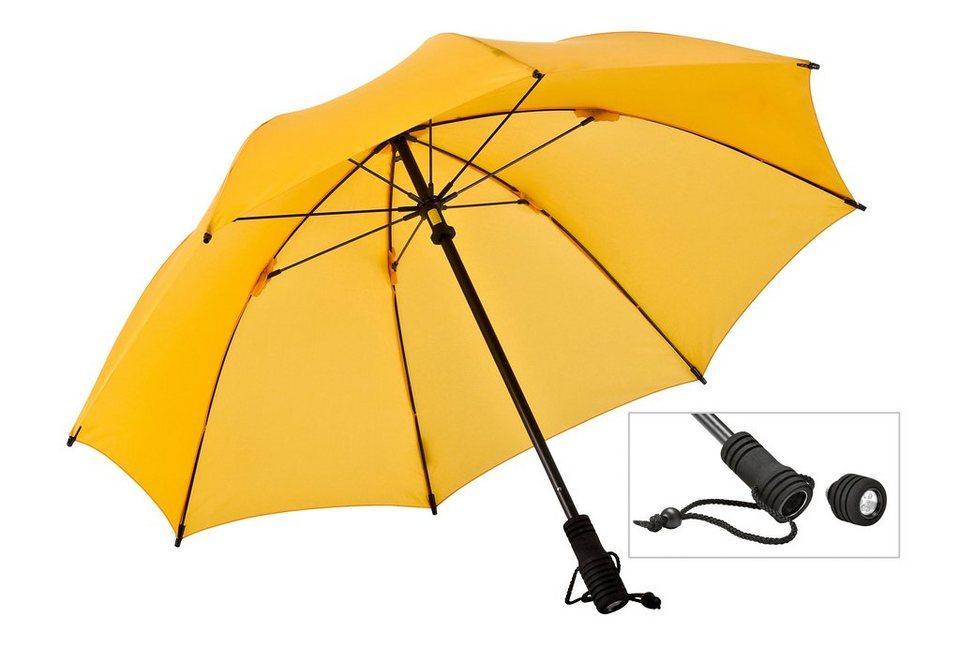 Euroschirm® Regenschirm mit Taschenlampe, »Swing FLASHLITE« in gelb