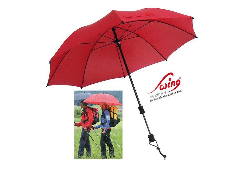 Euroschirm® Regenschirm, »Swing handsfree« in rot