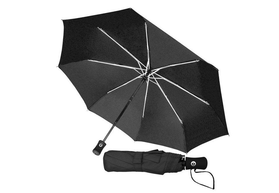 Euroschirm® Regenschirm für Damen und Herren, »Taschenschirm« in schwarz