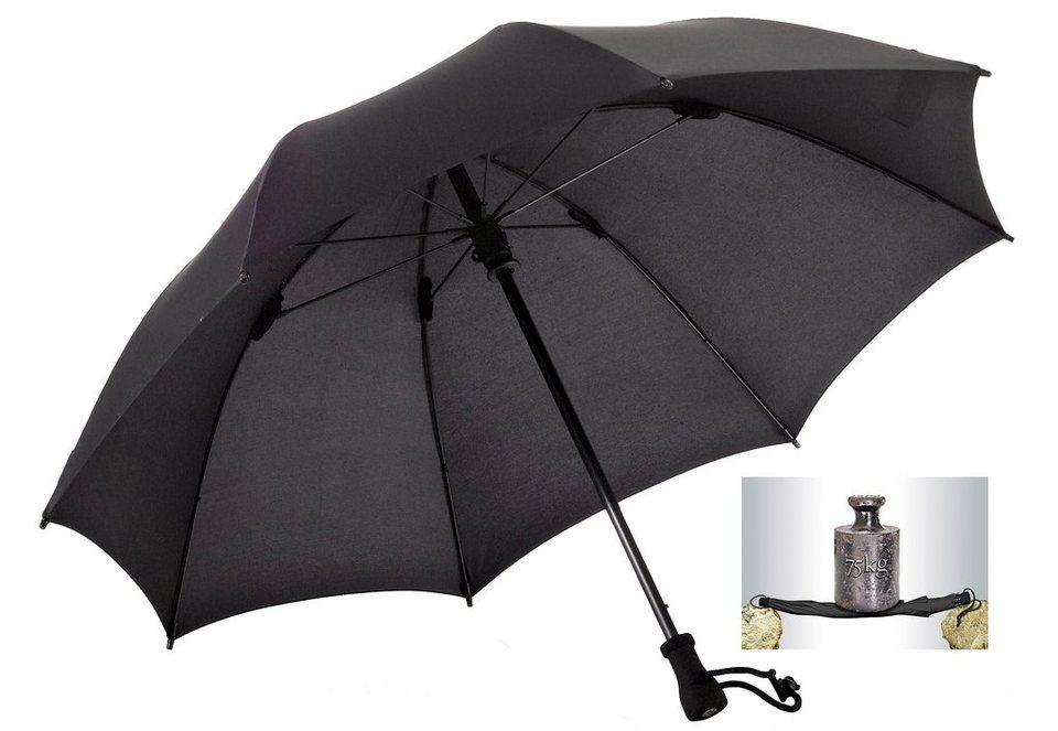Regenschirm, »birdiepal® outdoor Trekkingschirm«, Euroschirm® in schwarz