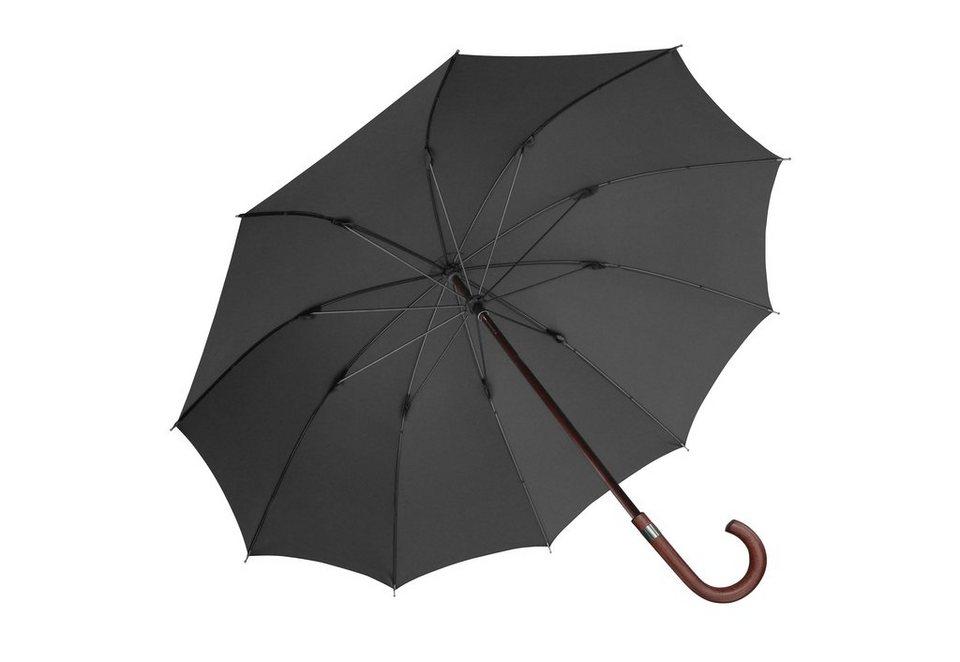 Euroschirm® Regenschirm für Herren, »Herren-Stockschirm« in schwarz