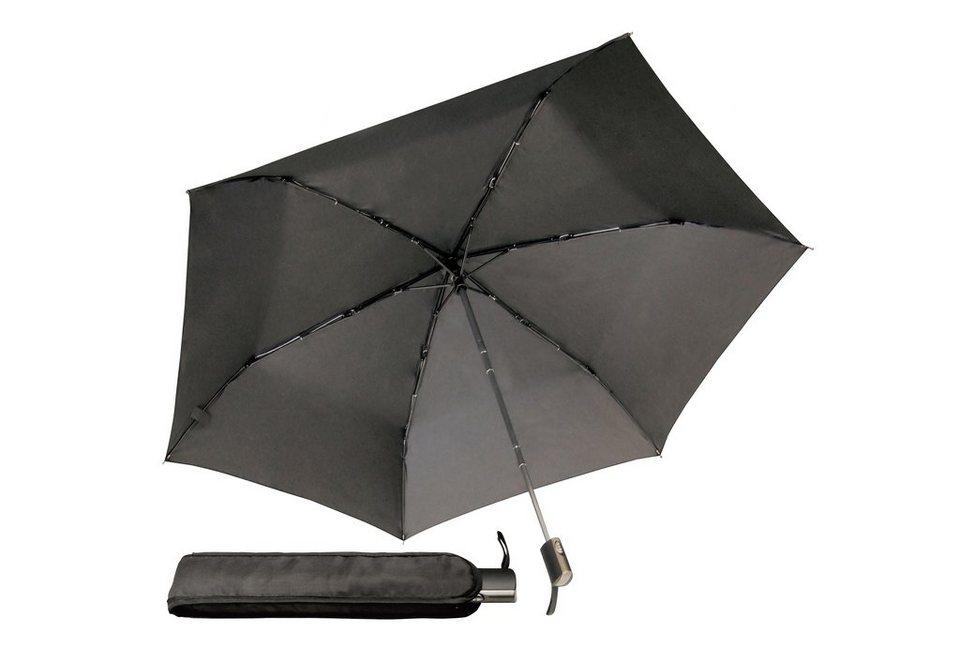Euroschirm® Regenschirm für Damen und Herren, »Mini-Taschenschirm« in schwarz