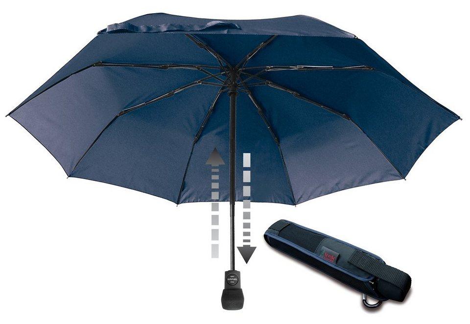 Euroschirm® Regenschirm - Taschenschirm, »light trek automatic Taschenschirm« in marineblau