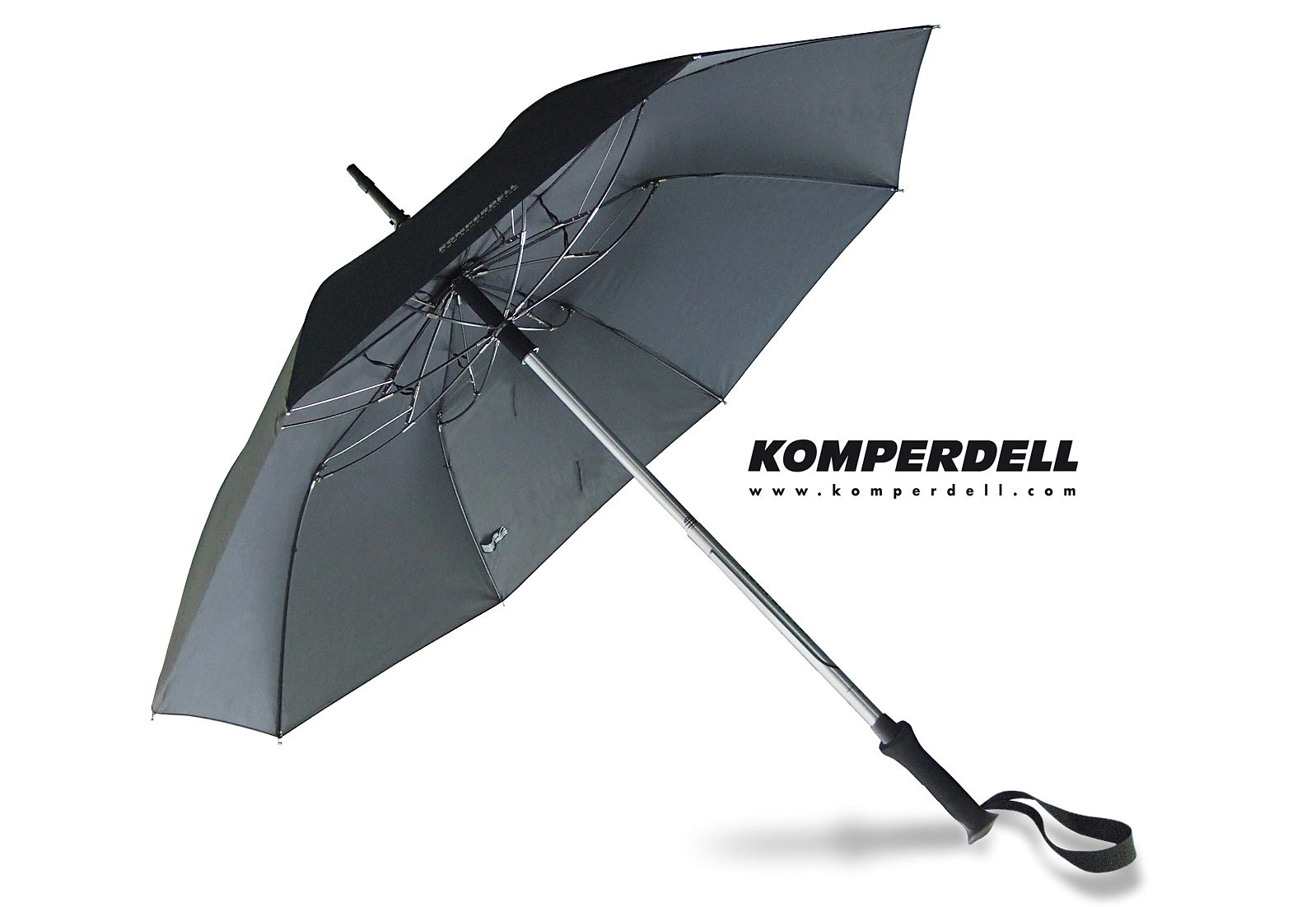 Euroschirm® Regenschirm - Wanderstock, »KOMPERDELL Teleskop-Wanderstock m. integriertem Schirm«
