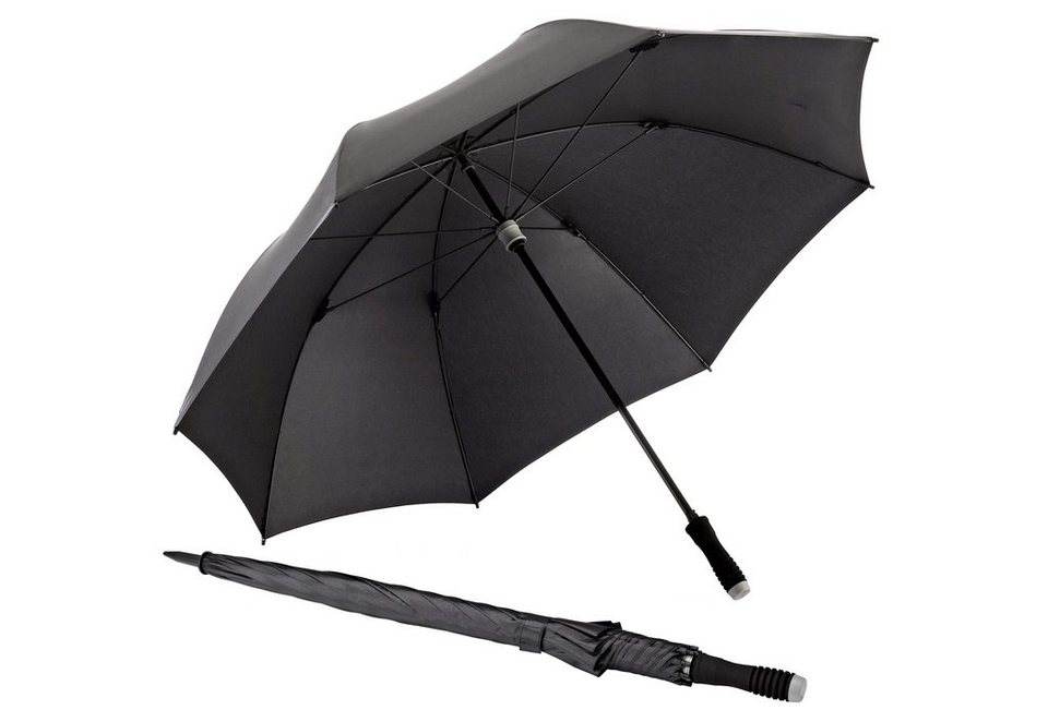 Euroschirm® Regenschirm Golfschirm, »birdiepal® telescopic« in schwarz