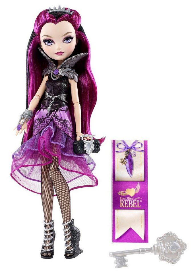 Mattel, Puppe, »Ever After High -Rebel Raven Queen« in lila