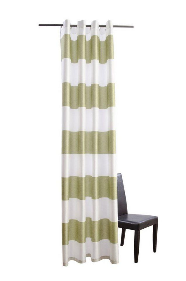 Vorhang, Homing, »Burbank« (1 Stück) in grün-weiß