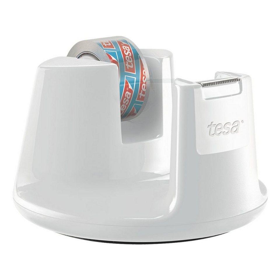 tesa Tischabroller »Easy Cut Compact« mit Klebeband ... in weiß