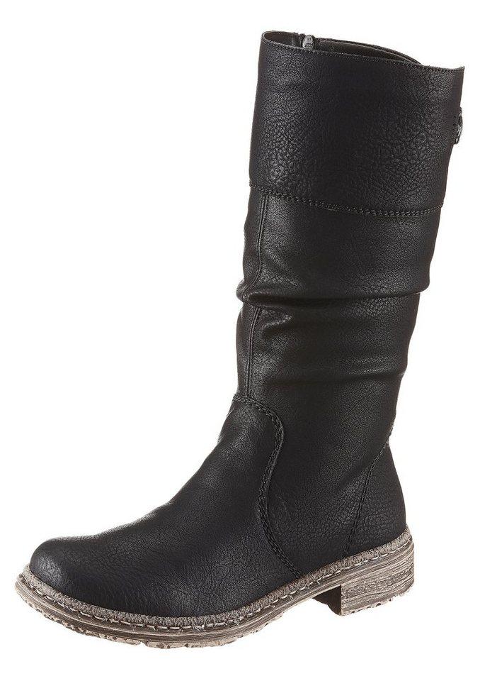 Rieker Stiefel mit variablen Normalschaft in schwarz