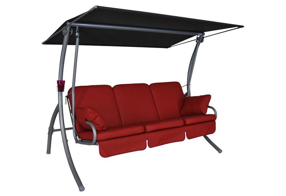 angerer freizeitm bel hollywoodschaukel primero premium 3 sitzer rot online kaufen otto. Black Bedroom Furniture Sets. Home Design Ideas