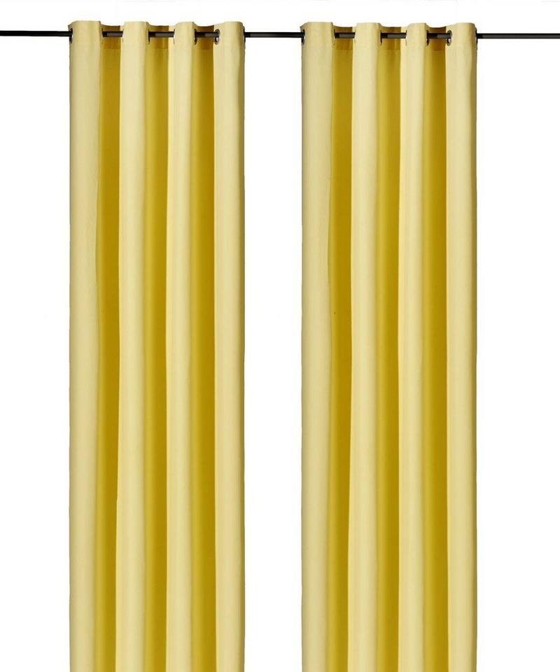 Vorhang, Weckbrodt-Gardinen, »Vito«, mit Ösen(1 Stück) in gelb