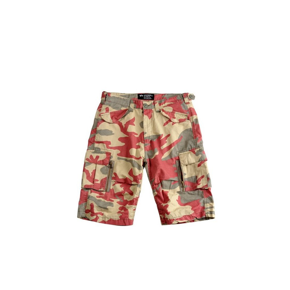 ALPHA INDUSTRIES Short »Patrol Short« in olive/red camo